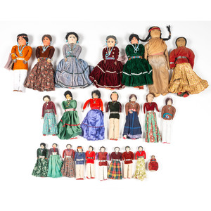 Twenty-Four Navajo Dolls