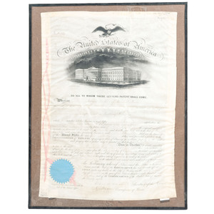 Patent Papers For Revolving Rifle by Morgan .L.Rood Patent #10.259