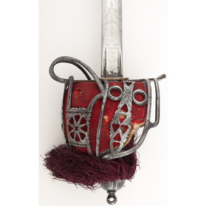 Highland Officer's Broadsword Attributed to Sir John Millais with Documents and Books by Millais
