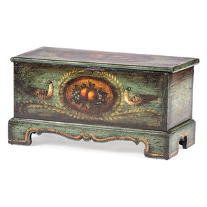A Paint Decorated Blanket Chest by Peter Ompir