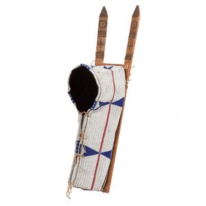 Cheyenne Beaded Buffalo Hide Cradle From an Important Denver, Colorado Collector