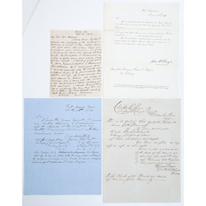 Autographs of Five Confederate Generals