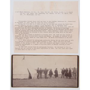 Indian Wars-Era Photograph of Identified Officers at Camp in 1886 by O.S. Goff, Bismarck