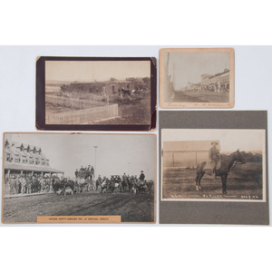 Western Photographs, Incl. Colonel Cody's Sheridan Inn, WY, President Arthur in Wyoming, Leadville, CO, and Rough Rider Scenes
