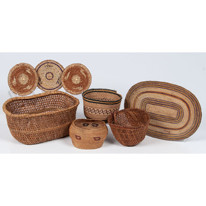 Collection of Northwest Coast Baskets and Trivets, From the Stanley B. Slocum Collection, Minnesota