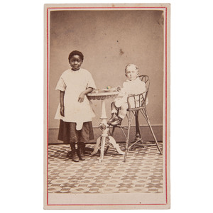 Little Jim Plum & Maid CDV, 1869