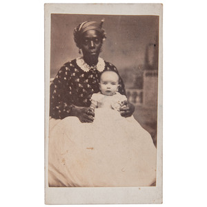 CDV of African American Caretaker with White Baby, New Orleans, circa 1867