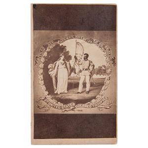 3rd USCT Banner CDV by D.B. Bowser, Philadelphia, circa 1865