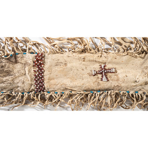 Apache Beaded Hide Scabbard, with Model 1872 Cavalry Sword