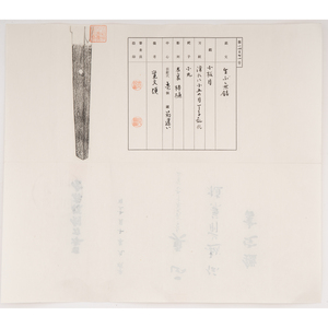 Japanese Samurai Sword (Katana) Attributed to Echizen Kanetane