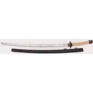 Long Japanese Samurai Sword in Tachi Mounts by Sadamichi