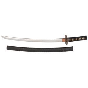 Japanese Samurai Sword (Wakizashi) Signed Hiroshige