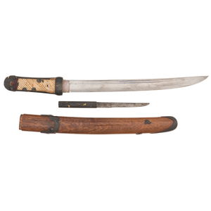 Koto Japanese Samurai Sword (Tanto) Signed Kanetsugu