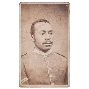 Buffalo Soldier CDV by Cross, Niobrara, Nebraska, circa 1880s