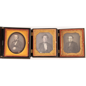 Sixth Plate Daguerreotypes Featuring Genteel Men with Fashionable Hairstyles
