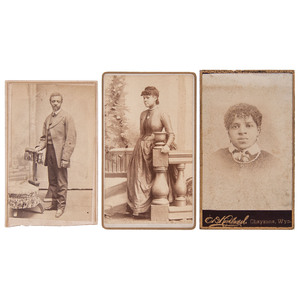 3 CDVs of African Americans by Western Photographers