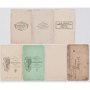 7 CDVs by African American Photographers J.P. Ball, Alexander Thomas, James Ball, and A.W. Thomas, circa 1862-1868