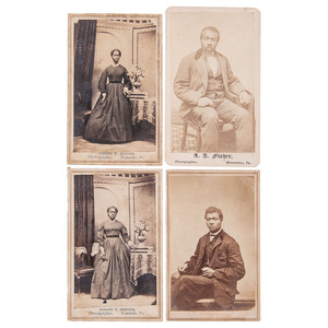 11 CDVs of an African American Family, Pennsylvania and New York