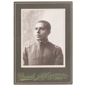 Charles Young Cabinet Card, Xenia, Ohio, circa 1894 with Inscription by William Sanders Scarborough