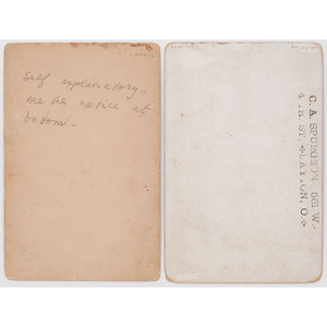 """Glass, """"Chief of Scouts,"""" and Wife, Apache, Ariz., circa 1886-1887, Lot of 2 Cabinet Cards"""