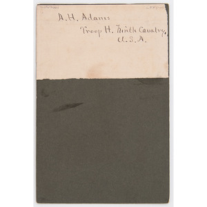 A.H. Adams Ninth Cavalry, Troop H Cabinet Card by McBride, Crawford, Nebraska, circa 1894