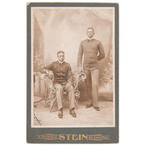 Cabinet Card of 2 Buffalo Soldiers by Stein, San Antonio, Texas, circa 1898