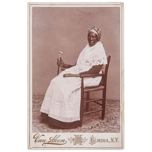 Aunty Bell Cabinet Card, Elmira, New York, circa 1890