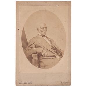 Professor Jim Cabinet Card by Prescott & White, Hartford, Connecticut, circa 1870s
