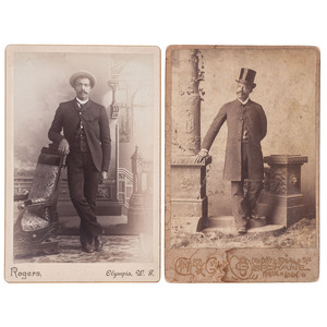 Washington Cabinet Cards Incl. First Pastor of Spokane St. Paul's AME Church, George W. White, circa 1893