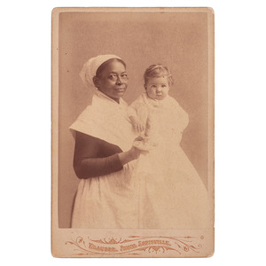 African American Nanny with White Child Cabinet Card, Louisville, Kentucky, circa 1880