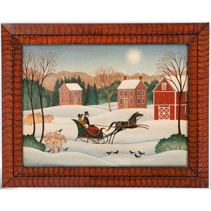 Four Folk Art Paintings by Diane Ulmer Pedersen