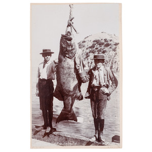 A Catalina Fish Boudoir Card, Catalina Island, California, circa 1900