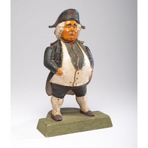 A Painted Cast Iron 'Toby' Doorstop