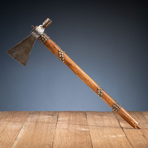 Western Plains Pipe Tomahawk, with Tacked Haft, From the Collection of Robert Jerich, Illinois