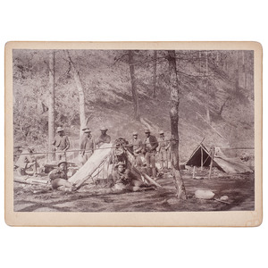 Tenth Cavalry Camp, Chloride Creek, New Mexico, circa 1890