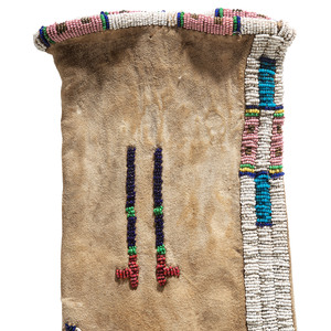 Sioux Elk Dreamer Society Beaded Hide Tobacco Bag, From the Collection of Robert Jerich, Illinois