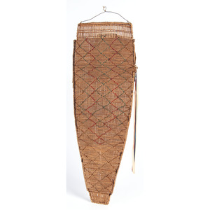 Paiute Beaded Basketry Cradle