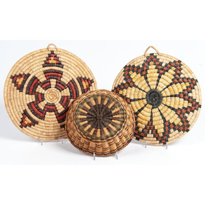 A Group of Hopi Basketry Items