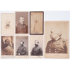 CDVs of Union Cavalry Commanders - Gibbs, Averell, McClellan, Torbert, Pleasanton, Sheridan