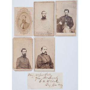 Civil War Union Cavalry Men, Lot of 5 CDVs Plus