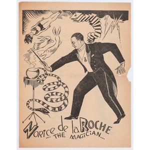 Norice de la Roche the Magician Handbill, circa 1946