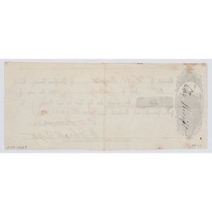 1857 Tax Receipt Printed at the Crusader of Freedom Office, Doniphan, Kansas