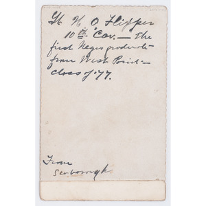 Henry O. Flipper Engraved Cabinet Card with Inscription by William S. Scarborough, circa 1899
