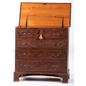 An Exuberantly Painted Pine Blanket Chest