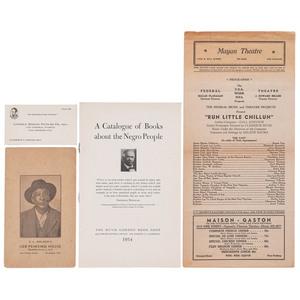 African American Occupational Ephemera, Los Angeles, Early Twentieth Century