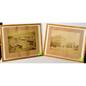 Two Framed Photographs Front and Rear View of the Remington Armory Illion, N.Y.