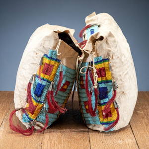 Sioux Beaded Possible Bags, Matched Pair, From the Collection of Robert Jerich, Illinois