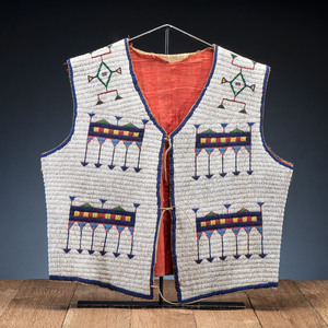 Sioux Beaded Hide Vest, From the Collection of Robert Jerich, Illinois