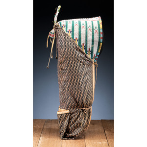 Cheyenne Beaded Soft Cradle, with Dragonflies, From the Collection of Robert P. Jerich, Illinois