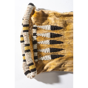 Arapaho Beaded Hide Tobacco Bag